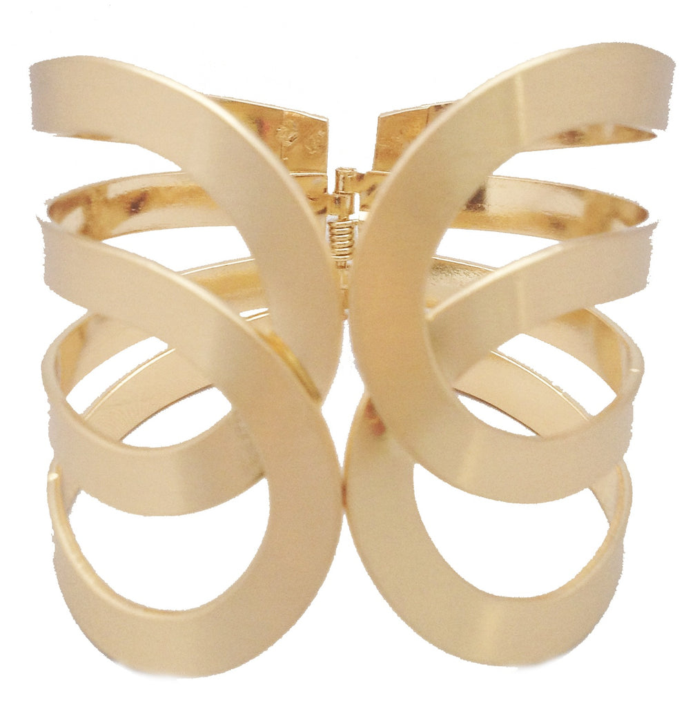 Gold Scalloped Cuff Bracelet - My Jewel Candy