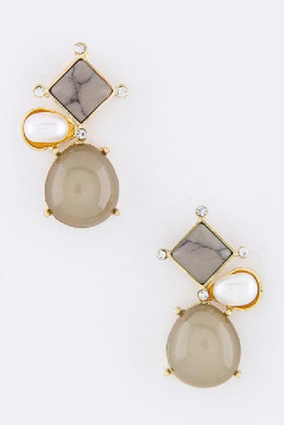 Gray Smolder Earrings - My Jewel Candy - 1