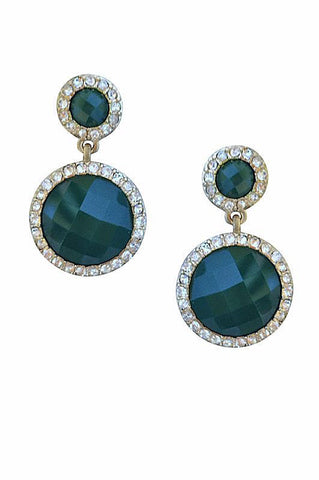 Green Drop Earrings - My Jewel Candy