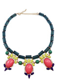 Jewel Fantasy Necklace - Green & Pink - My Jewel Candy - 2