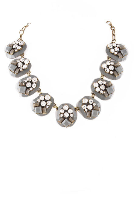 Grey Crystal Ice Necklace - My Jewel Candy