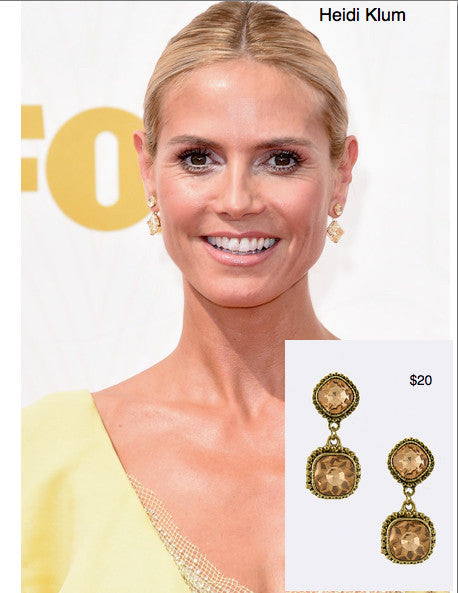 Emmy Look For Less - Heidi Klum's Earrings - My Jewel Candy