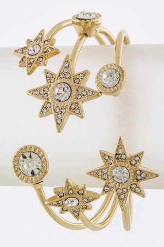 Holiday Stars Cuff Bracelet - My Jewel Candy