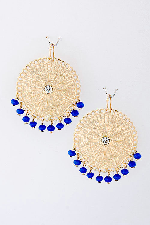 Beaded Dangle Earrings (As seen in People Style Watch Magazine)