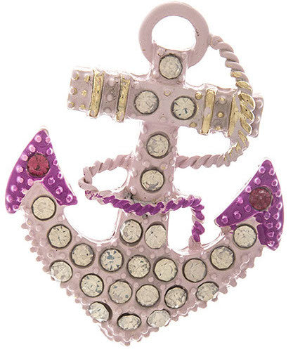 Pink Anchor Brooch - My Jewel Candy
