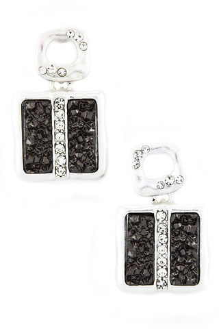 Square Druzy Present Earrings - My Jewel Candy