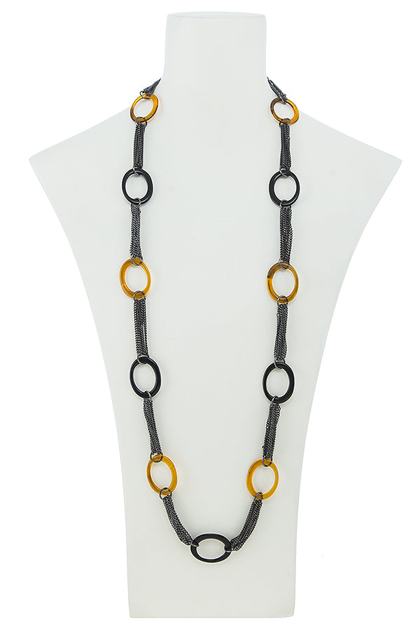 Faux Tortoise Shell Necklace