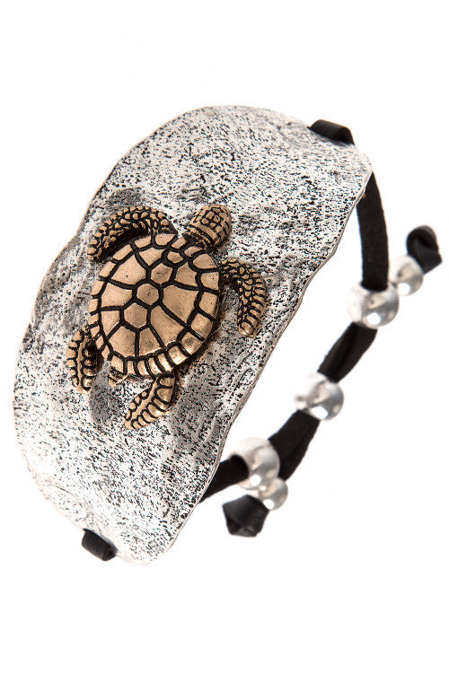 "Vintage-Style ""Save the Turtles"" Bracelet - My Jewel Candy - 1"