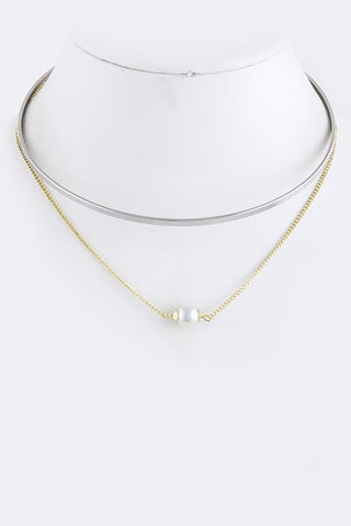 Drop Pearl Collar Necklace - My Jewel Candy - 1