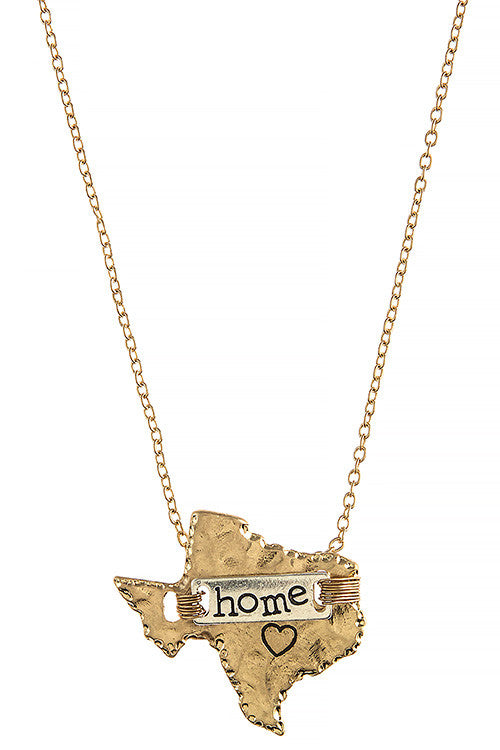 Texas Home Necklace - My Jewel Candy - 1