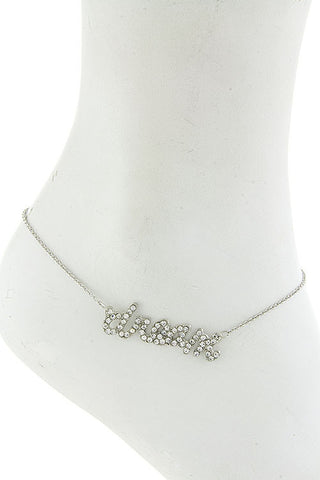 "$7 Crystal ""Dream"" Anklet  (48 hour promotional deal) - My Jewel Candy - 1"
