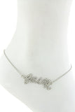 "$7 Crystal ""Faith"" Anklet  (48 hour promotional deal) - My Jewel Candy - 2"
