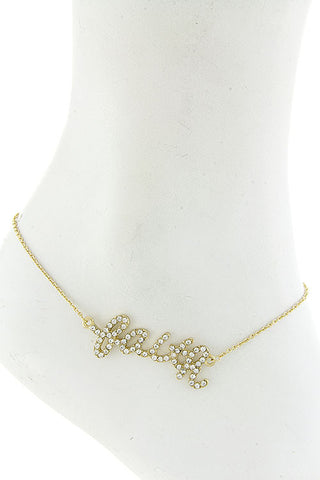 "$7 Crystal ""Faith"" Anklet  (48 hour promotional deal) - My Jewel Candy - 1"