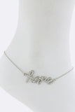 "$7 Crystal ""Hope"" Anklet  (48 hour promotional deal) - My Jewel Candy - 1"