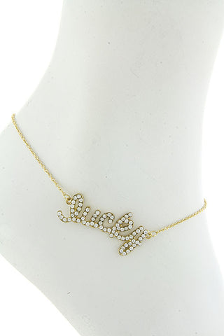 "$7 Crystal ""Lucky"" Anklet  (48 hour promotional deal) - My Jewel Candy - 1"