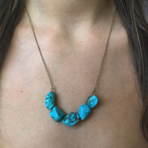 Turquoise Stones Necklace - My Jewel Candy