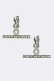 Pave Bar Double-Sided Earrings - My Jewel Candy - 2