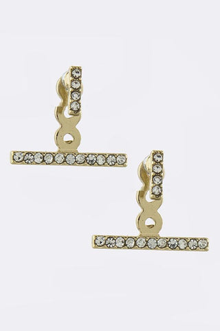 Pave Bar Double-Sided Earrings - My Jewel Candy - 1