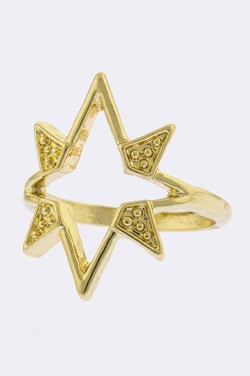 Aura Gold Ring Knuckle Ring - My Jewel Candy