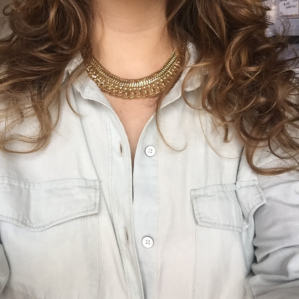 Gold Chained Collar Necklace - My Jewel Candy