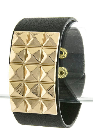 Vegan Leather Studded Bracelet