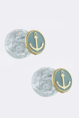 Double Sided Anchor Earrings - My Jewel Candy - 1