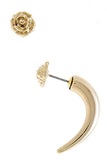 Killarney Rose x Rose-Gold Stud & Tusk Mismatched Earring Set - My Jewel Candy - 3