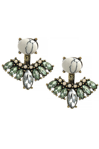 Crystal Double Sided Ear Jackets - My Jewel Candy - 1
