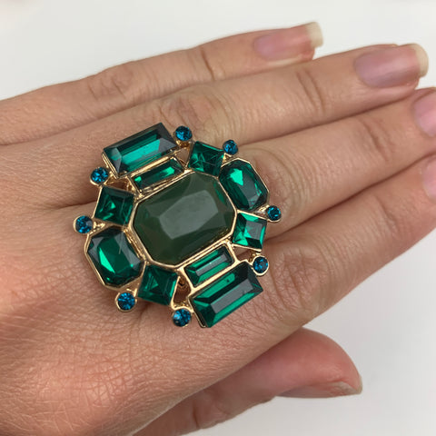 """The Empire is Ours"" Ring (emerald green)"