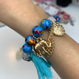 Save Elephants Beaded Stack Bracelets