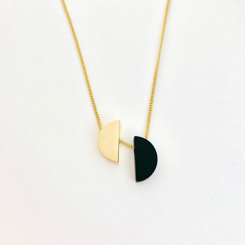 """Mezza Luna"" Half Moon Night & Day Necklace"