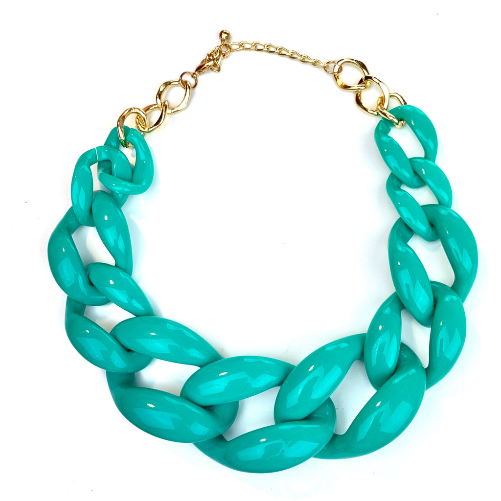 Linked-In Necklace (Turquoise)