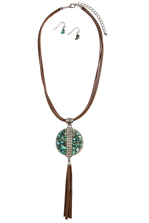 Boho Stone & Tassel Necklace - My Jewel Candy - 1