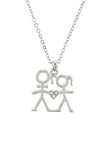 """Giving You My Heart"" Crystal Couple Necklace"