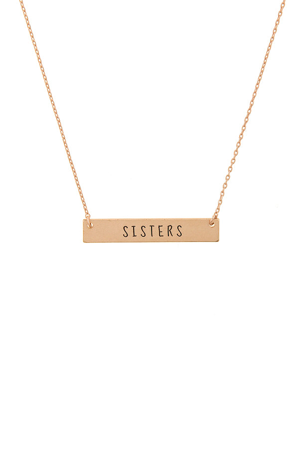 Sister Bar Necklace