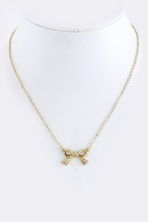 Gold Ribbon necklace - My Jewel Candy