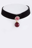 Pink Killarney Rose Chocker Necklace - My Jewel Candy - 1