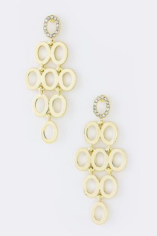 Circle Stacked Earrings - My Jewel Candy - 1