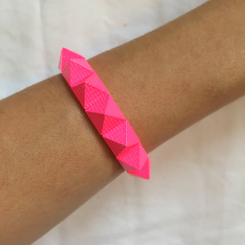 Magenta Pyramid Bracelet - My Jewel Candy