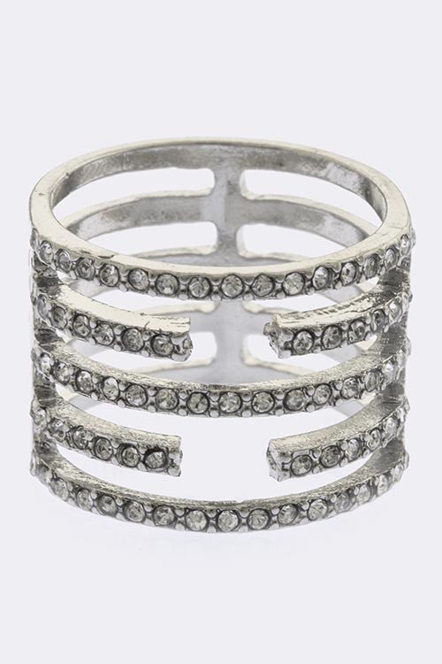 Crystal Pave Ring - My Jewel Candy
