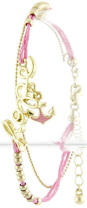 Pink Hope Anchor Bracelet - My Jewel Candy
