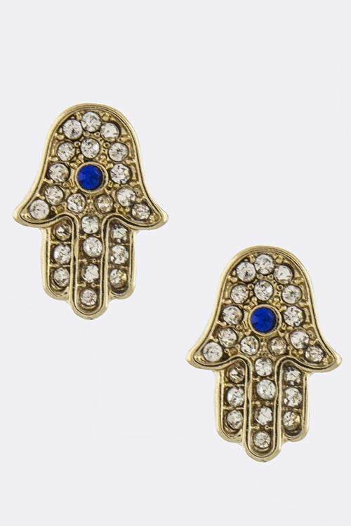 Hamsa Earrings - My Jewel Candy - 1