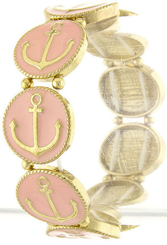 Pink Anchor Bracelet - My Jewel Candy