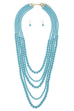 Multi Strand Ball Bead Necklace Set - My Jewel Candy - 1