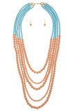 Multi Strand Ball Bead Necklace Set - My Jewel Candy - 5
