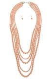 Multi Strand Ball Bead Necklace Set - My Jewel Candy - 6