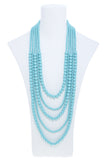 Multi Strand Ball Bead Necklace Set