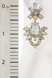 Baroque Style Crystal Stud Clear Acrylic Back Ornate Earrings - My Jewel Candy - 2