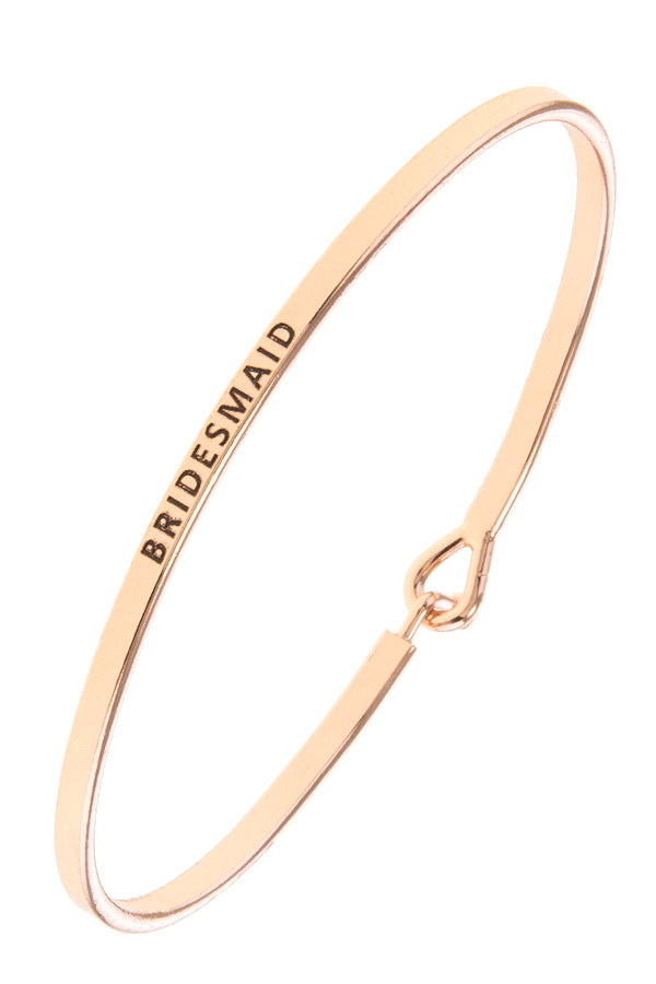 Bridesmaid Bangle Bracelet