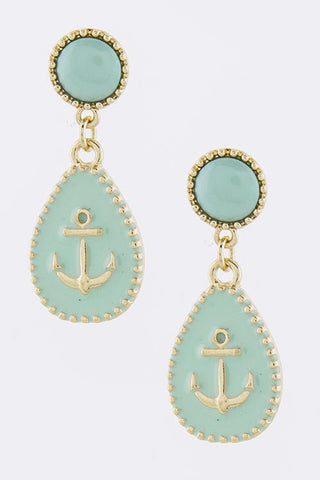 Blue Anchor Earrings - My Jewel Candy